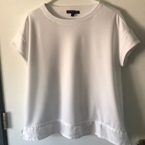 white blouse from banana republic